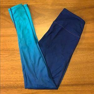 Athleta blue sea ombré high rise yoga pants